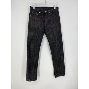 A.P.C. Sz 26 Slim Straight Jean Black Wash Denim
